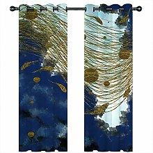 JKZHILOVE Blackout Curtains 2 Panels Set Blue sky