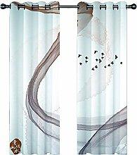 JKZHILOVE Blackout Curtains 2 Panels Set Brown