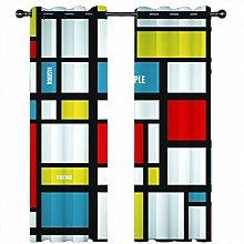 JKZHILOVE Blackout Curtains 2 Panels Set Colorful