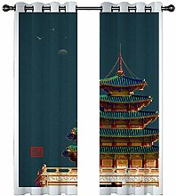 JKZHILOVE Blackout Curtains 2 Panels Set Golden
