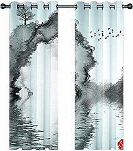 JKZHILOVE Blackout Curtains 2 Panels Set Grey