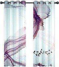 JKZHILOVE Blackout Curtains 2 Panels Set Pink