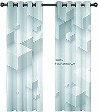 JKZHILOVE Blackout Curtains 2 Panels Set White