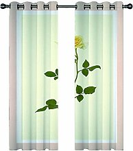 JKZHILOVE Blackout Curtains 2 Panels Set Yellow