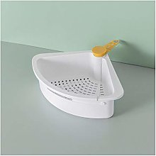 JKZX Drain Basket Kitchen Drain Basket Sink Shelf
