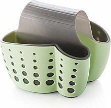 JKZX Kitchen Sink Drainer Sponge Storage Basket