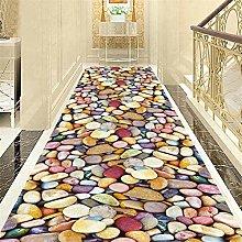 JLCP Hallway Runner Rug, 3D Colored Pebbles