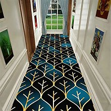 JLCP Soft Crystal Velvet Carpet Runners, 3D Leaves