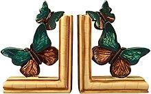 JLJLJL European Style Vintage Butterfly Bookend,