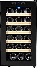 JLKDF Drinks Fridge,18 Bottle Wine Cooler Mini Bar