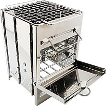JLKDF Portable Stainless Steel Bbq Grill Non-Stick