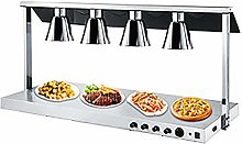 JLNHSDR Buffet Food Warmer Lamp - Electroplated