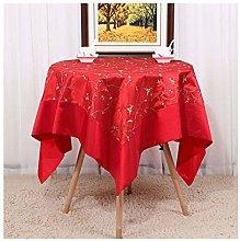 JLWM Silk Cloth Solid Color Tablecloth Big Round