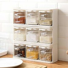 JLWS Spice Rack 3 Grids Spoon Kitchen With Lid