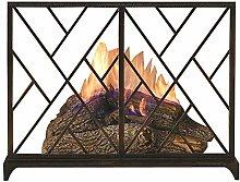 JLXJ Fireplace Screen, Fire Guard for Wood Burner