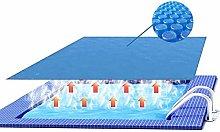 JLXJ Rectangle Blue Solar Pool Cover, Thermal