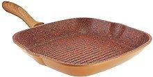 JML Copper Stone Pans: 28cm Griddle Pan Healthier,