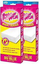 JML Doktor Power Magic Eraser Twin Pack Cleaning &