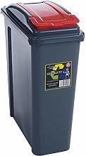 JMS® Recycle It 25L Slimline Bin & Lid