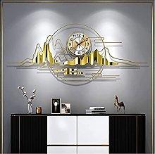 JMSTT Gold Big Wall Clock for Living Room