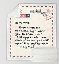JNBGYAPS Printing Throw Blanket Letter to wife