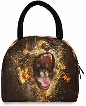 JNlover Angry Roaring Tiger Insulated Lunch Bag