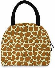 JNlover Animal Giraffe Print Insulated Lunch Bag
