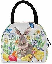 JNlover Animal Rabbit Chicken Insulated Lunch Bag