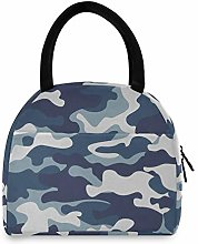 JNlover Camo Pattern Insulated Lunch Bag Cooler