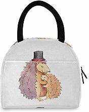 JNlover Cute Animal Hedgehog Insulated Lunch Bag
