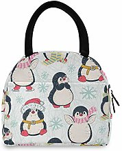 JNlover Cute Animal Penguins Insulated Lunch Bag