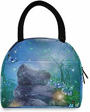 JNlover Floral Animal Butterfly Insulated Lunch