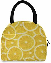 JNlover Fruit Orange Pattern Insulated Lunch Bag