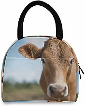 JNlover Funny Animal Cow Insulated Lunch Bag