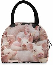 JNlover Funny Animal Pig Insulated Lunch Bag