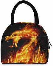 JNlover Galaxy Animal Dragon Insulated Lunch Bag
