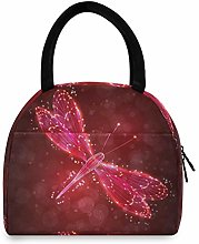 JNlover Galaxy Animal Dragonfly Insulated Lunch