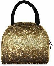JNlover Galaxy Star Pattern Insulated Lunch Bag