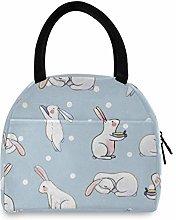 JNlover Lovely Animal Rabbit Insulated Lunch Bag