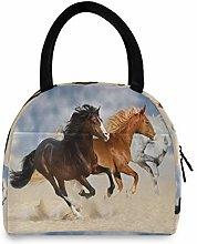 JNlover Running Animal Horse Insulated Lunch Bag