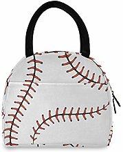 JNlover Sport Baseball Print Insulated Lunch Bag
