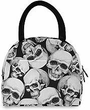 JNlover Vintage Sugar Skull Insulated Lunch Bag