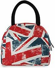 JNlover Vintage UK Flag Insulated Lunch Bag Cooler