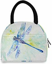 JNlover Watercolor Animal Dragonfly Insulated