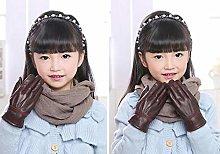 JNML Gloves Children's autumn winter thicken