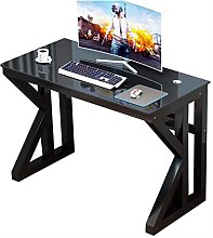 JNOIHF Tempered Glass Desk Computer Table with K-