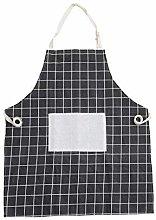 JNX 3pcs Geometric Yellow Cotton Linen Apron Woman