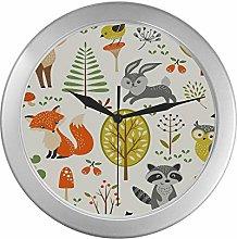 JOCHUAN Beautiful Wall Clock Forest With Animals