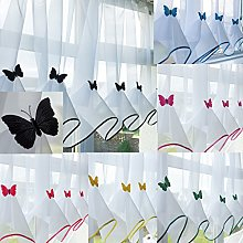 John Aird Butterfly Voile Curtain With Matching