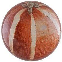 JOHN DERIAN - Striped Orange Paperweight - O/S